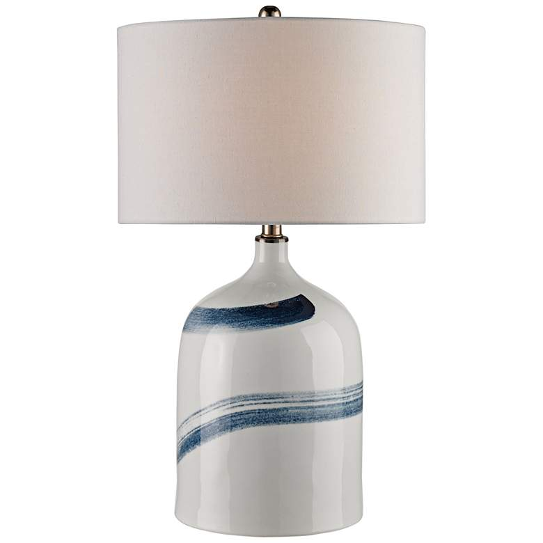 Currey and Company Essay Bone White and Blue Table Lamp