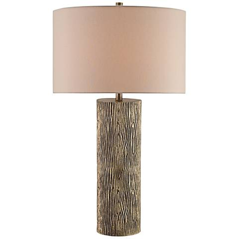 Currey and Company Landseer Natural Woodgrain Table Lamp