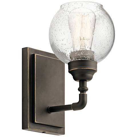 """Kichler Niles 10"""" High Olde Bronze Wall Sconce"""