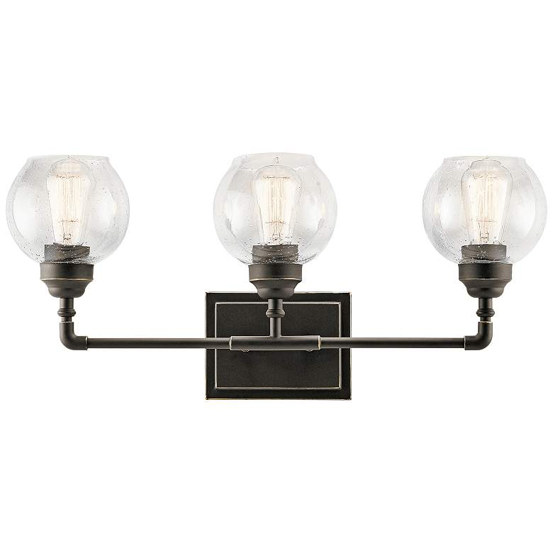 "Kichler Niles 24"" Wide Olde Bronze 3-Light Bath Light"