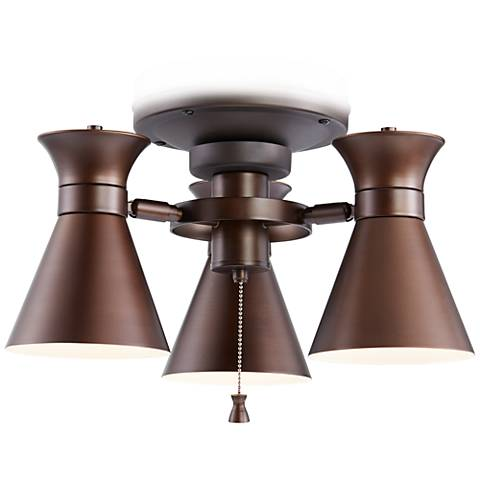 Bronze Finish LED Adjustable Ceiling Fan Light Kit