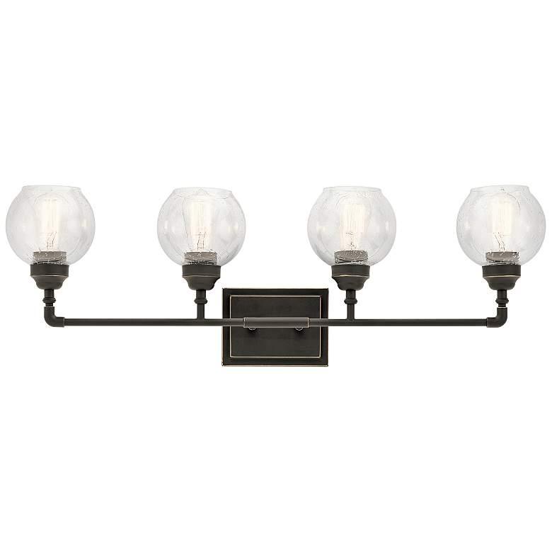 "Kichler Niles 33 1/4"" Wide Olde Bronze 4-Light Bath Light"