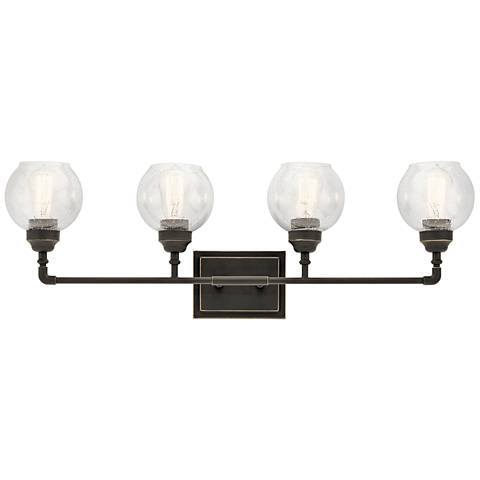 "Kichler Niles 33 1/4"" Wide Olde Bronze 4-Light Bath Light"