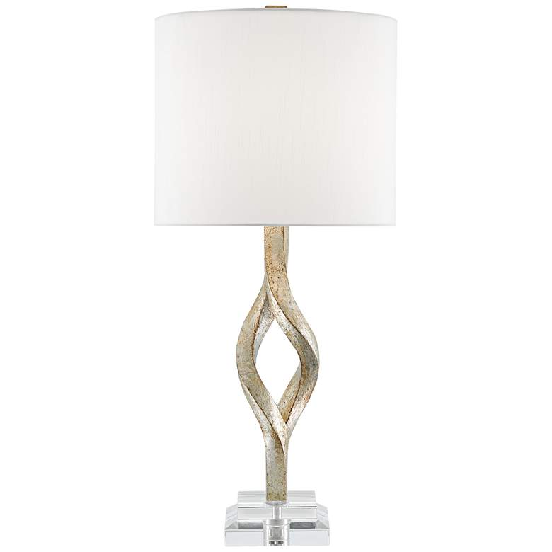 Currey and Company Elyx Chinois Silver Leaf Table Lamp