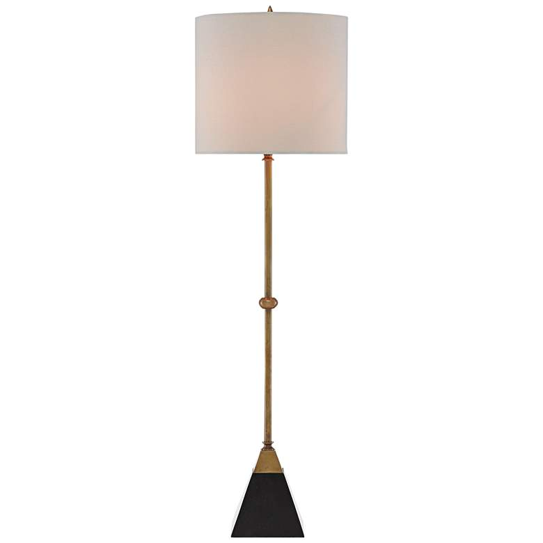 Currey and Company Recluse Brass with Black Table Lamp