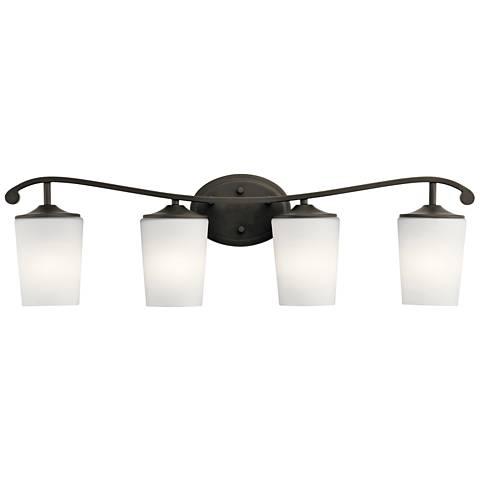 "Kichler Versailles 31 1/2""W Olde Bronze 4-Light Bath Light"