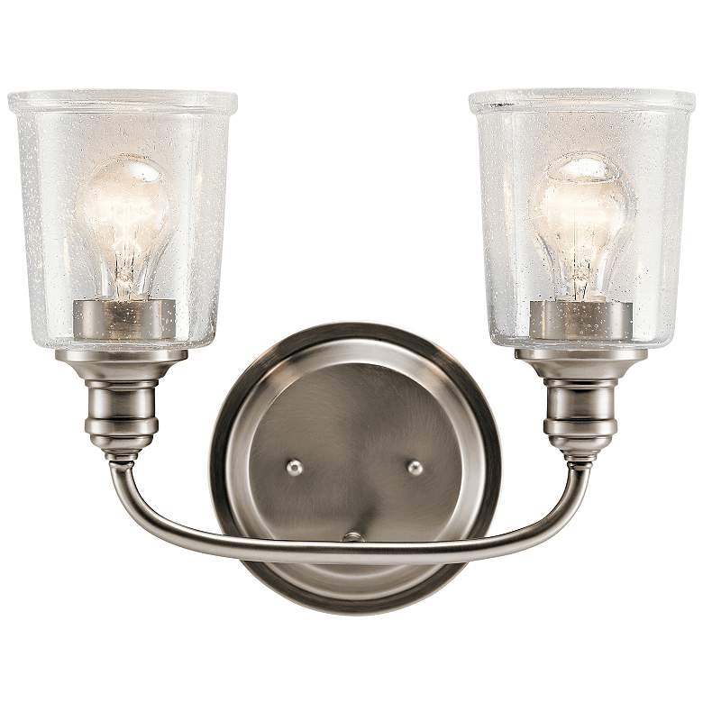 """Kichler Waverly 10 1/4""""H Classic Pewter 2-Light Wall Sconce"""