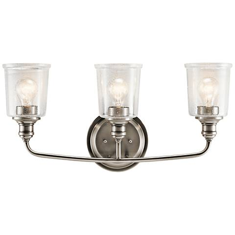 "Kichler Waverly 24"" Wide Classic Pewter 3-Light Bath Light"