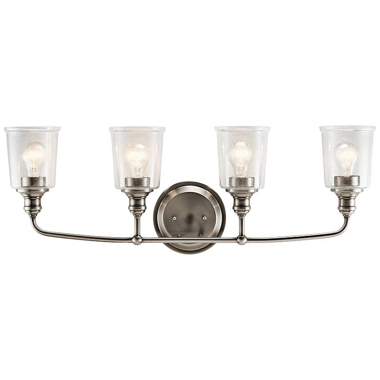 "Kichler Waverly 33"" Wide Classic Pewter 4-Light Bath Light"