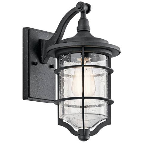 "Kichler Royal Marine 13 1/4"" High Black Outdoor Wall Light"