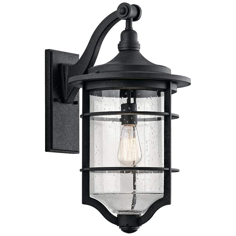 "Kichler Royal Marine 21 3/4"" High Black Outdoor Wall Light"