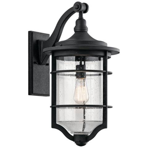 Kichler Royal Marine 21 3 4 Quot High Black Outdoor Wall Light