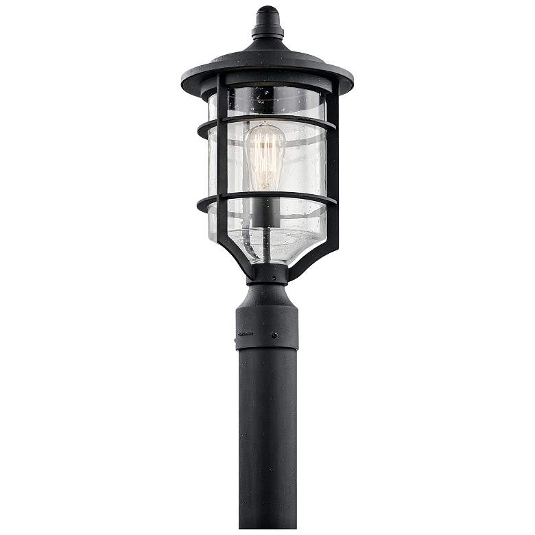 "Kichler Royal Marine 19"" High Black Outdoor Post Light"