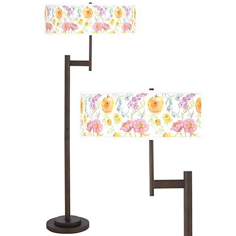 Spring Garden Parker Light Blaster™ Bronze Floor Lamp