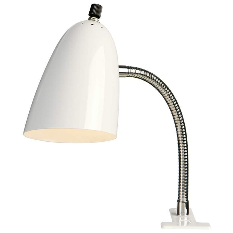 White LED Gooseneck Clip Light