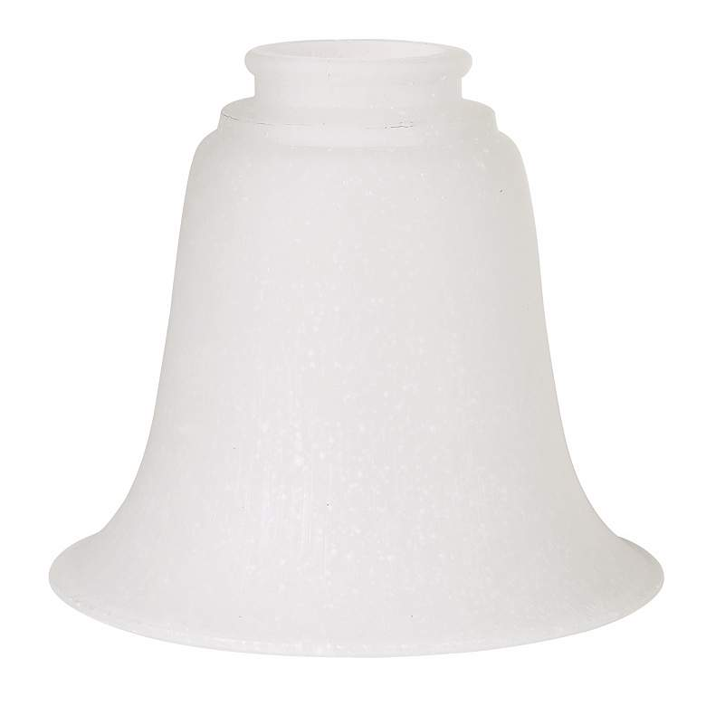 """2 1/4"""" Fitter Set of 4 Frosted Seedy Glass Shades"""