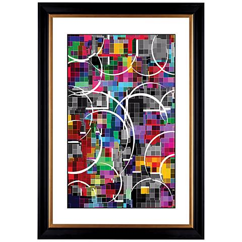 """Giclee Neon Vapor 41 3/8"""" High Wall Art"""