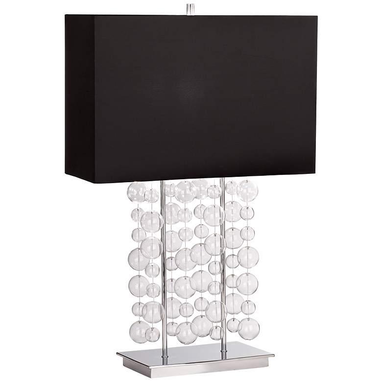 Possini Euro Design Clear Bubble Cascade Table Lamp