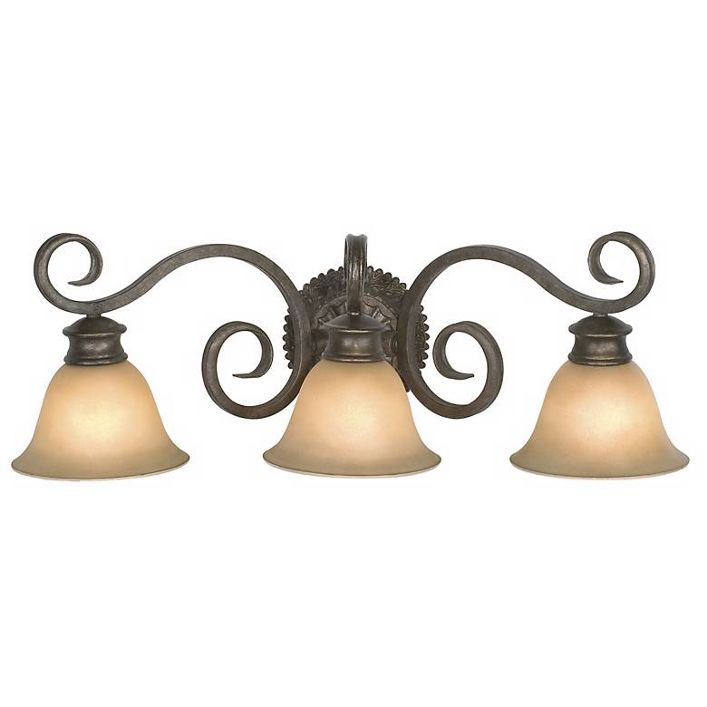 "Botaniqa Collection 24"" Wide Bathroom Light Fixture"