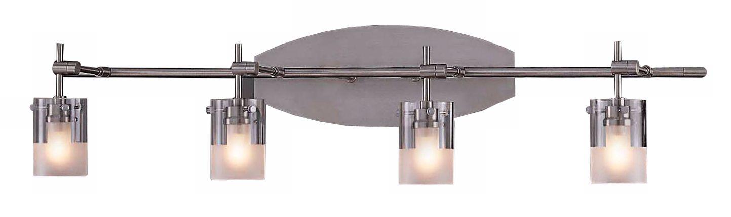 Brushed Nickel Adjustable Four Light Bathroom Fixture