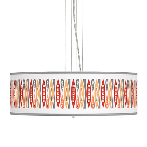 "Vernaculis VI Giclee 24"" Wide 4-Light Pendant Chandelier"
