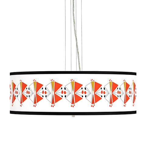 "Lexiconic III Giclee 24"" Wide 4-Light Pendant Chandelier"
