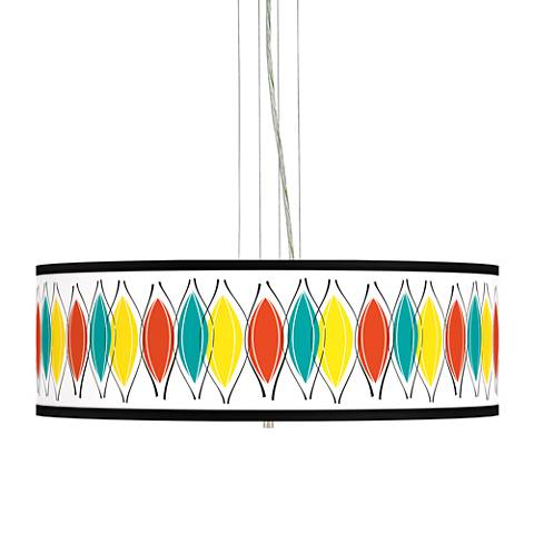 "Harmonium Giclee 24"" Wide 4-Light Pendant Chandelier"