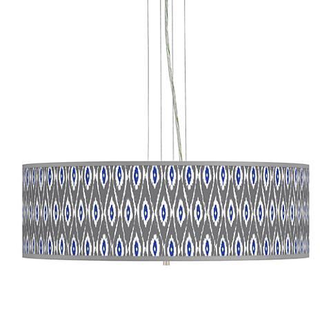 "American Ikat Giclee 24"" Wide 4-Light Pendant Chandelier"