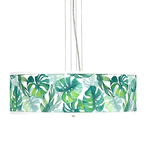 "Tropica Giclee 24"" Wide 4-Light Pendant Chandelier"