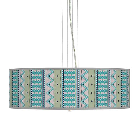 "Geo Metrix Giclee 24"" Wide 4-Light Pendant Chandelier"
