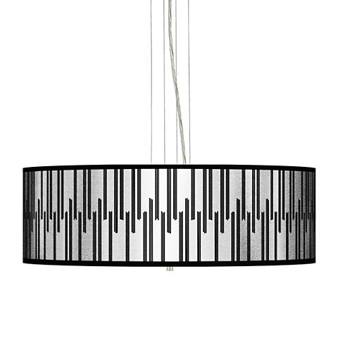 "Segments Silver Metallic I 24"" W 4-Light Pendant Chandelier"