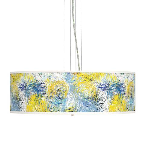 "Starry Dawn Giclee 24"" Wide 4-Light Pendant Chandelier"