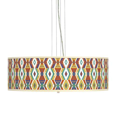 "Southwest Bohemian Giclee 24"" Wide 4-Light Pendant Chandelier"