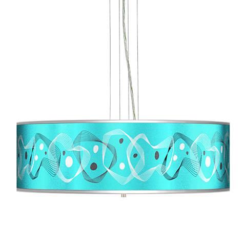 "Spirocraft Silver Metallic 24"" Wide 4-Light Pendant Chandelier"