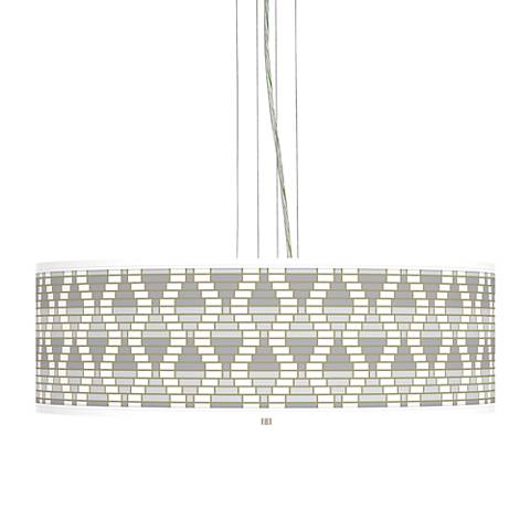 "Stepping Out Giclee 24"" Wide 4-Light Pendant Chandelier"
