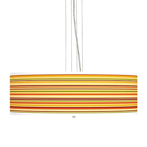 "Stacy Garcia Harvest Stripe 24"" Wide 4-Light Pendant Light"