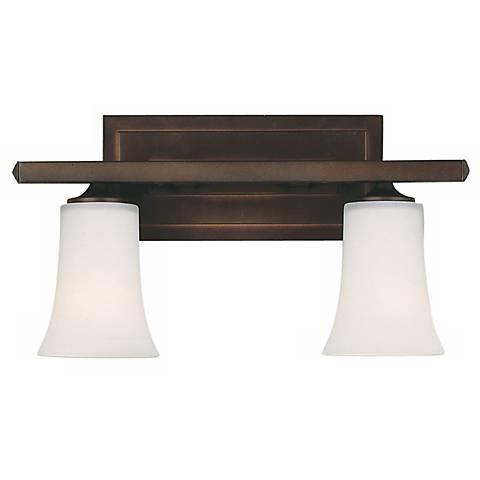 "Boulevard Collection 16""W Bronze 2-Light Bathroom Light"