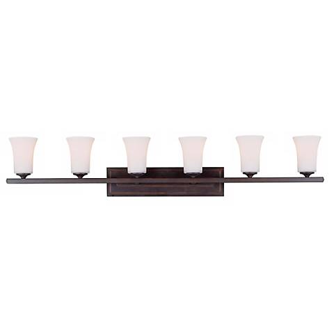 "Boulevard Collection 48""W Bronze 6-Light Bath Light"