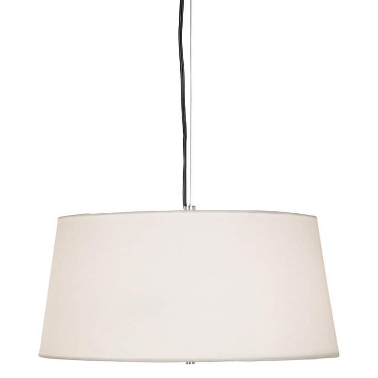 17552 - Brushed White Linen Pendant Light