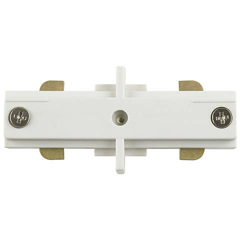 Intense Lighting Single Circuit White Mini Track Coupler