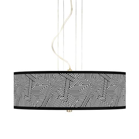 "Labyrinth 20"" Wide 3-Light Pendant Chandelier"