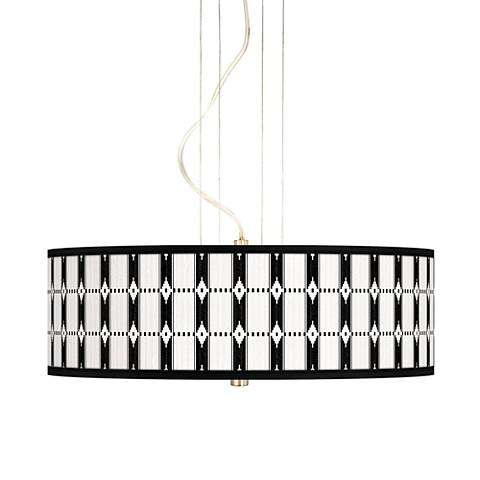 "Tribal Weave 20"" Wide 3-Light Pendant Chandelier"