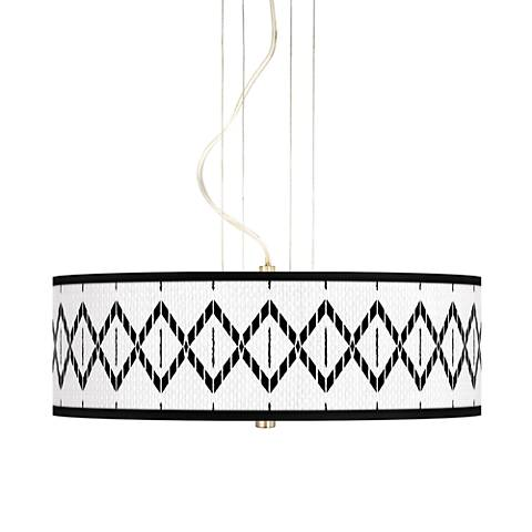 "Paved Desert 20"" Wide 3-Light Pendant Chandelier"