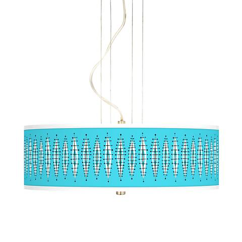 "Vibraphonic Bounce 20"" Wide 3-Light Pendant Chandelier"