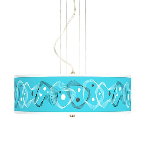 "Spirocraft 20"" Wide 3-Light Pendant Chandelier"