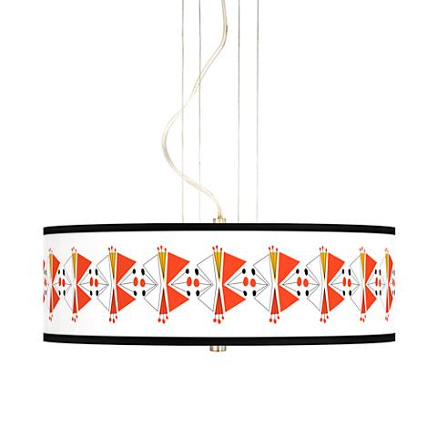 "Lexiconic III 20"" Wide 3-Light Pendant Chandelier"