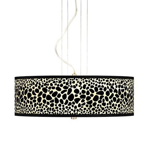 """Leopard 20"""" Wide 3-Light Pendant Chandelier"""