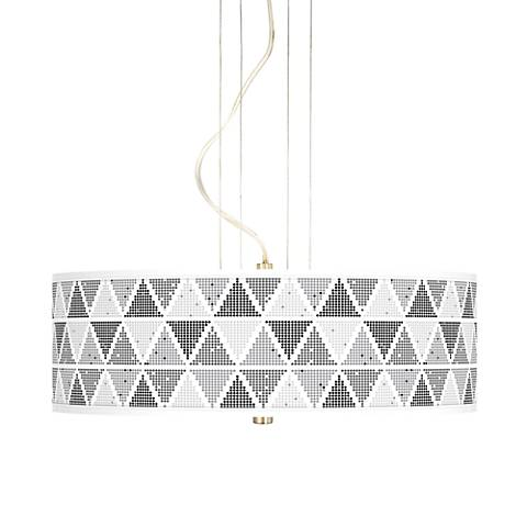 "Pointillism 20"" Wide 3-Light Pendant Chandelier"