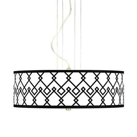 Diamond Chain 20 Inch Wide 3 Light Pendant Chandelier  17822 20d21 on houzz home design modern html