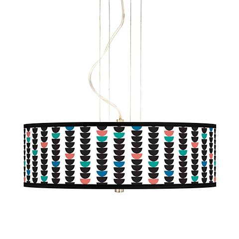 "Semi-Dots 20"" Wide 3-Light Pendant Chandelier"